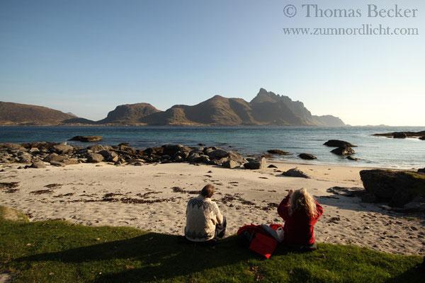 Picknick am privaten Sandstrand.