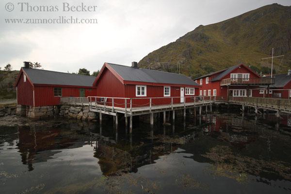 Fischerhüttenanlage in Ballstad.