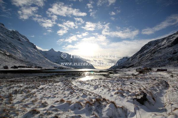 Der Skjelfjord auf der Insel Flakstadoya - L7