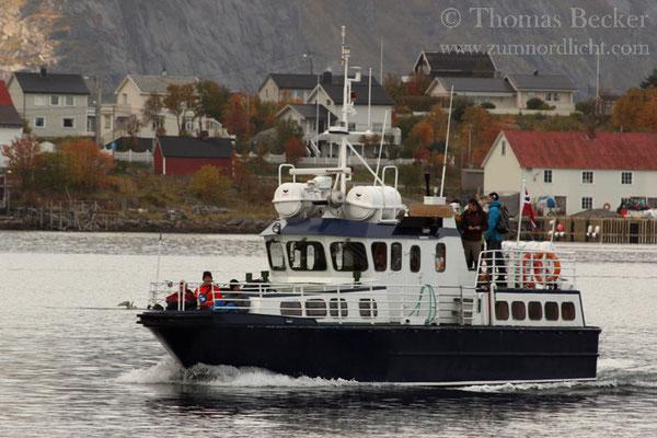 Meine Reisegruppe bei der Rückkehr aus dem Reinefjord.