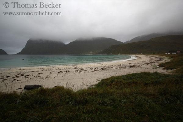 Ein Strand von Haukland.