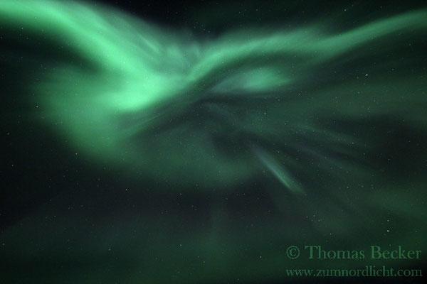 Eine herrliche Nordlichtkorona.