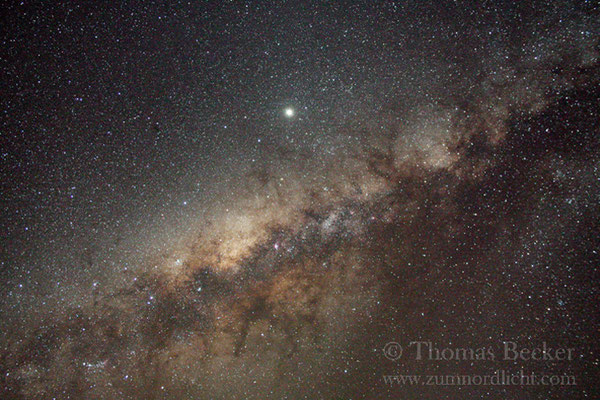 Zentrum der Milchstraße mit dem Riesenplaneten Jupiter - A1