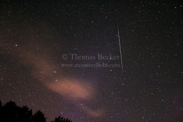 Geminidenmeteor mit schwachem Nordlicht - A2
