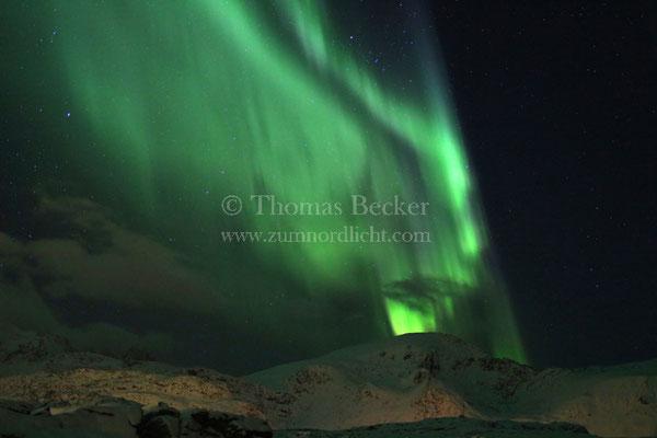 Nordlicht über den Bergen - N15