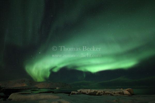 Helles grünes Nordlicht - N20