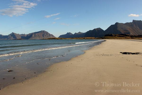Der Strand von Fredvang.
