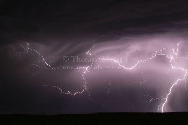 Blitze über dem US-Bundesstaat Nebraska - G8