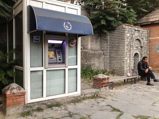 Azerbaijan - Bancomat in Sheki