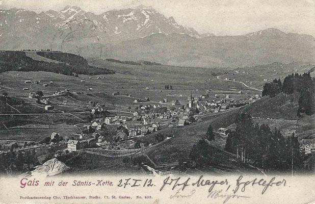 GAIS - mit Säntis 1912