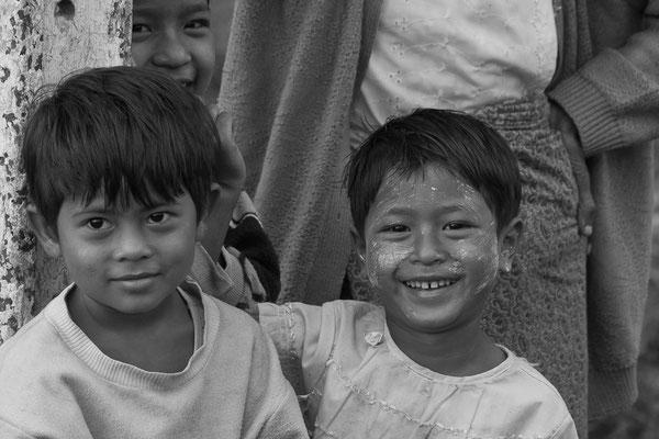 Myanmar people - fröhliche Kinder