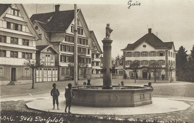 GAIS - Dorfplatz um 1920
