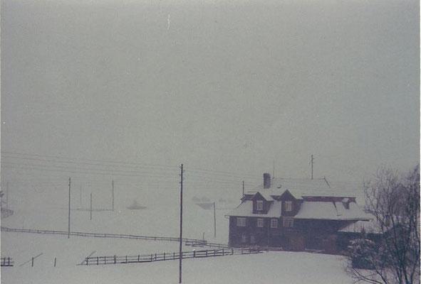 """GAIS - Hier steht unser Haus noch - """"Altes Bad"""" (Familie Manser) im Winter"""