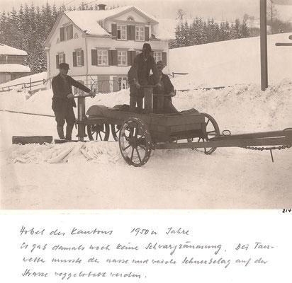 GAIS - Schneeräumung - Hobel 1950er-Jahre