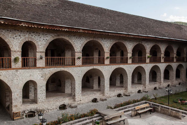 Azerbaijan - Unser Hotel in Sheki - eine Karawanserei aus dem 18. Jahrhundert