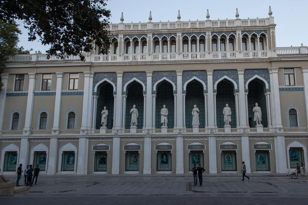 Azerbaijan - Das nach Nizami benannte Literaturmuseum in Baku