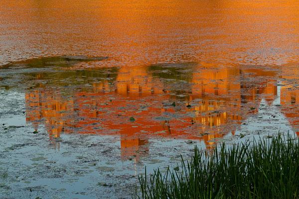 Polen - Malbork mit dem UNESCO-Welterbe Marienburg - Spieglung