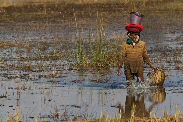 Madagaskar: Die Fischerin steht stundenlang im kalten Wasser