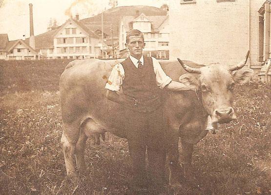 GAIS - Mein Grossvater Johann Manser mit Kuh