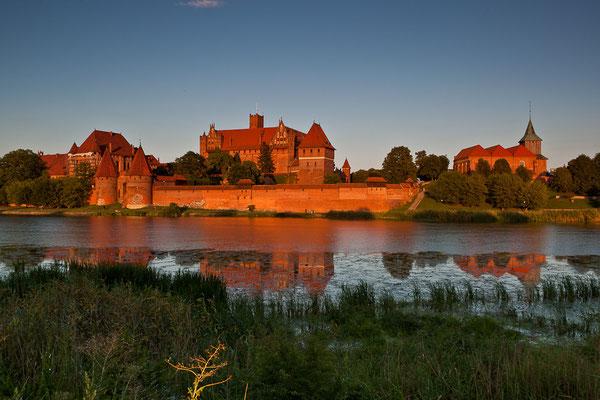 Polen - Malbork mit dem UNESCO-Welterbe Marienburg in der Abendsonne