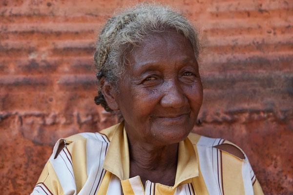 Liebenswerte Marktfrau in Madagaskar