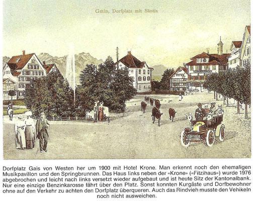 GAIS - Dorfplatz um 1900