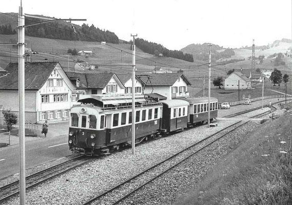 GAIS - SGA im Sammelplatz in Fahrtrichtung Appenzell 1967