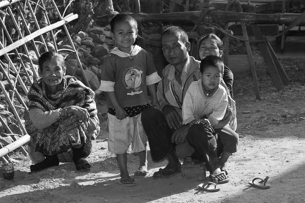 Myanmar people - Familie in Myanmar