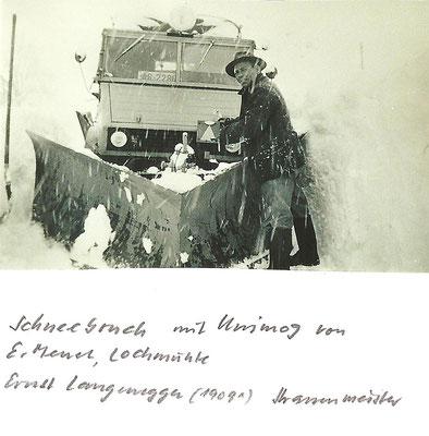 GAIS - Schneebruch mit Unimog