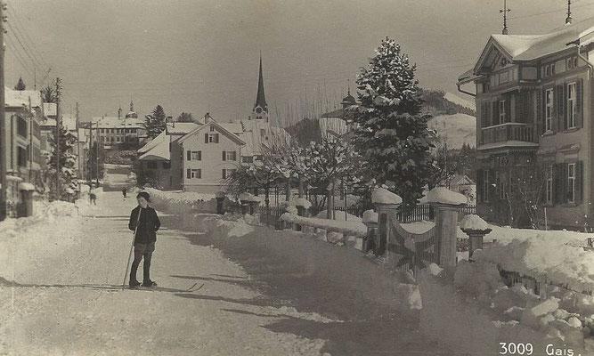 GAIS - Langgasse Postkarte 1923