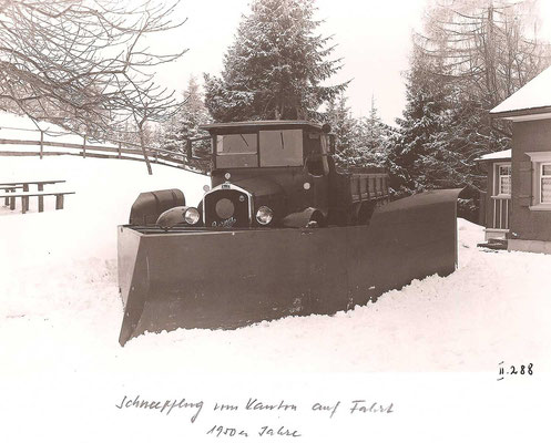GAIS - Schneeräumung - Schneepflug 1950er-Jahre
