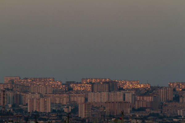 Azerbaijan - Sonnenuntergang vom Hotel-Balkon aus