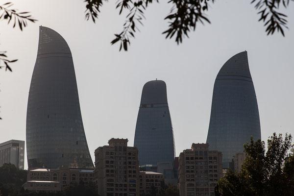 """Azerbaijan - """"Flame Towers"""" in Baku"""