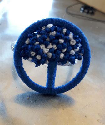 Bäumchen in blau-weiß