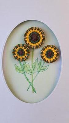 "Grusskarte ""Sonnenblumen"""