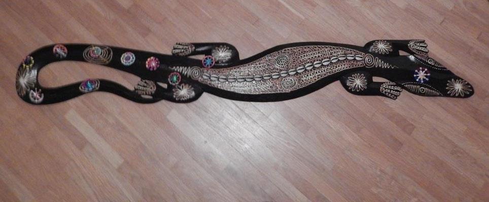 Der Gecko hält meine Knöpfchen in Schach