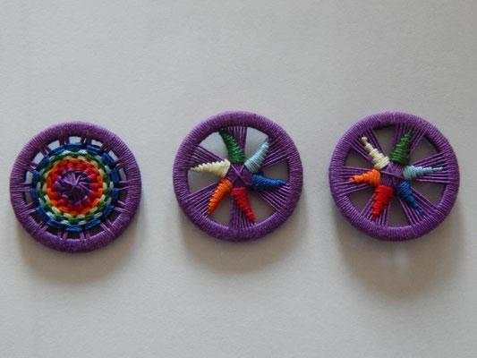"""Variationen zum Thema """"Blume des Lebens"""" in violett"""