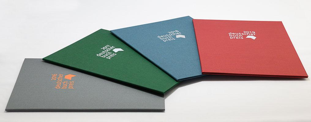 Urkundenmappen für den Deutschen Buchpreis