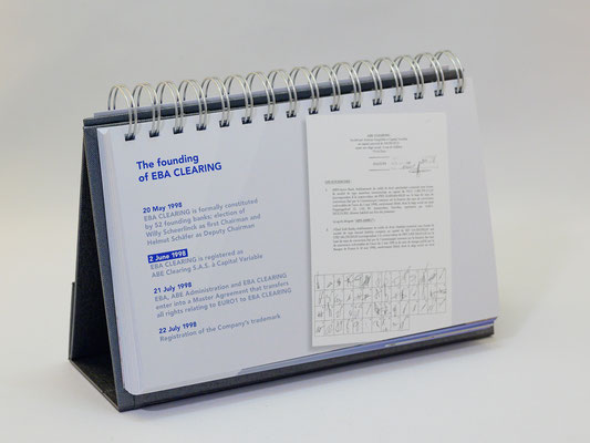 Jubiläumskalender aufgestellt