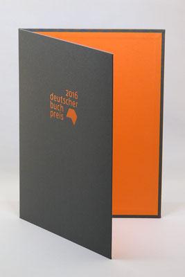 Urkundenmappe für den Deutschen Buchpreis