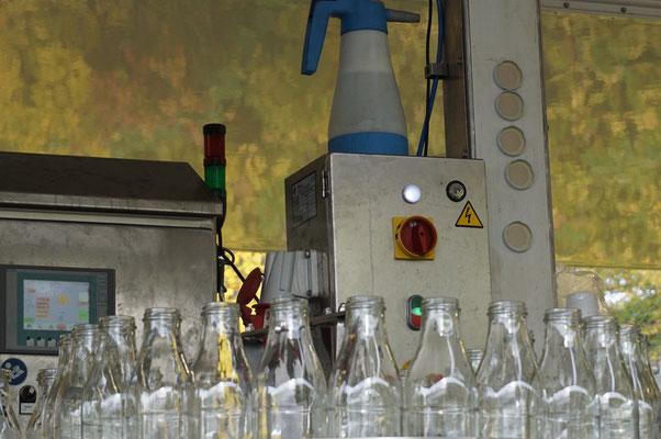 Die Flaschen stehen bereit