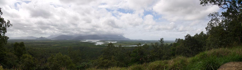 Panjoo Lookout am Bruce High Way mit Blick auf den Saymour River
