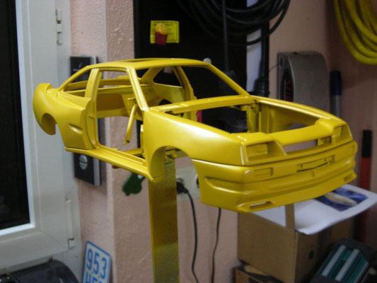 3-Schicht-Perleffekt-Lackierung in gelb