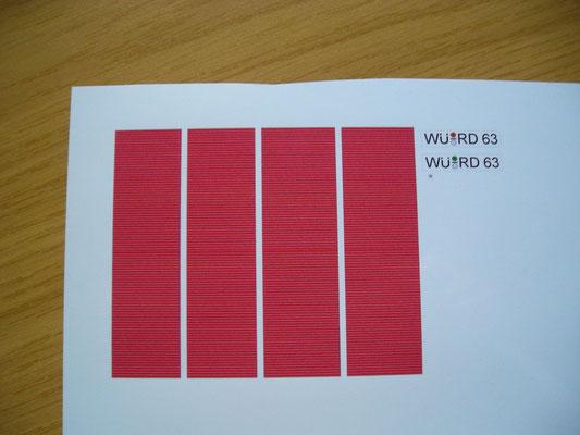 Rote Innenausstattung nach Originalvorlage angefertigt + Nummernschilder