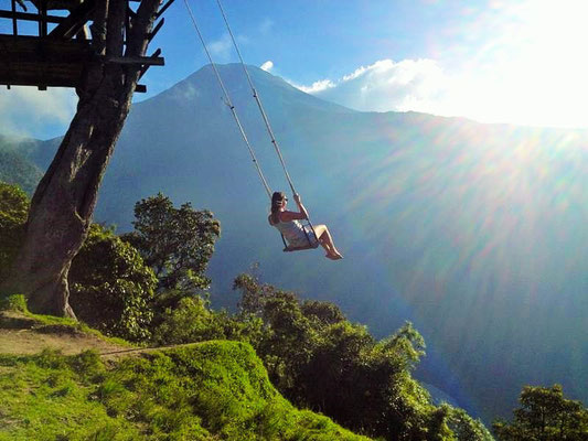 swing on top of the world Ecuador