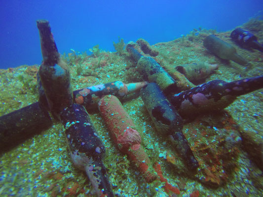 underwater treasures in Chuuk Lagoon