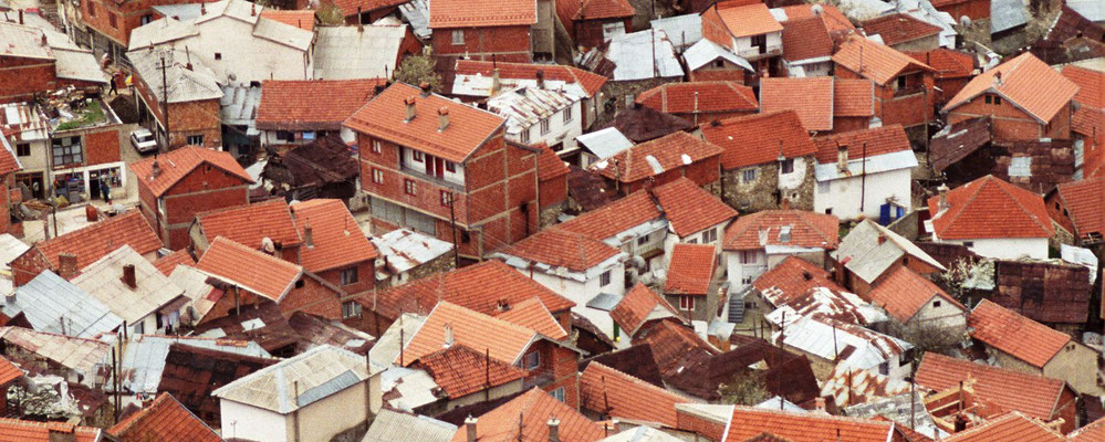 The roofs of Zhur between Prizren and the Albanian border