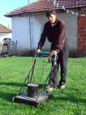 Selfmade lawnmower