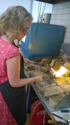 Flamme und Gießen