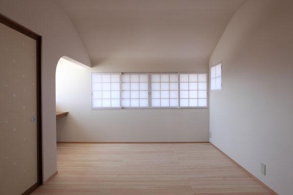 2階寝室 柔らかい質感を目指した